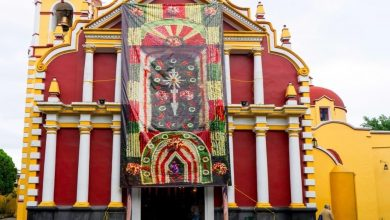 Photo of Colocan lona sobre iglesia de San Jerónimo por suspensión de fiesta patronal