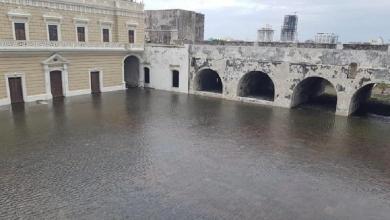 Photo of Marea alta inunda la Plaza de Armas en San Juan de Ulúa,Veracruz