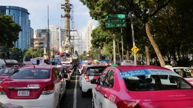 Photo of Taxistas protestan en Ángel de la Independencia