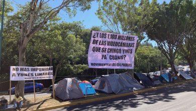 Photo of Inician plantón 400 Pueblos en Fiscalía de Veracruz; exigen detención de Yunes Linares