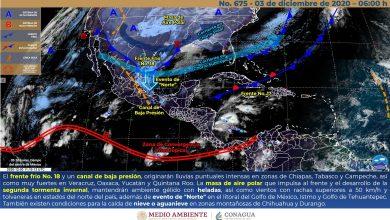 Photo of Lluvias muy fuertes y evento de «Norte» en Veracruz