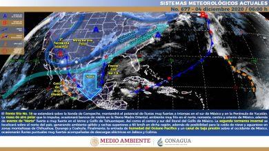 Photo of Nublados, lluvias y evento de «Norte» en Veracruz