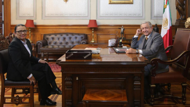 Photo of López Obrador recibe a Rosa Icela Rodríguez