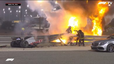 Photo of Romain Grosjean sufre un grave accidente en el GP de Bahrein