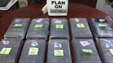 Photo of Confiscan 10 paquetes de cocaína en baños del AICM