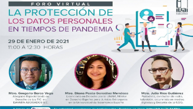 Photo of IVAI celebrará Día Internacional de la Protección de Datos Personales