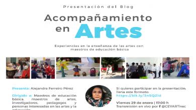Photo of El CEVART invita a la presentación del blog Acompañamiento en Artes