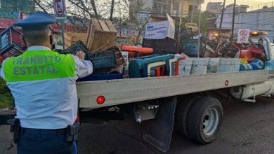 Photo of Tránsito retira 2 toneladas de artefactos que apartaban lugares en vía pública