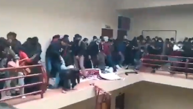 Photo of Video: Cede barandal de cuarto piso en universidad de Bolivia